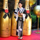 『浴衣でモエ・エ・シャンドン』オープニングイベントに出席した、須藤理彩 (C)oricon ME inc.