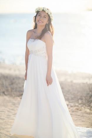 純白ドレス姿も披露した神戸蘭子