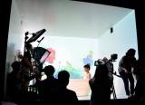 ヘアケア『ベーネプレミアム ルージュリア/ブルーリア』Web限定動画撮影の様子 (C)oricon ME inc.