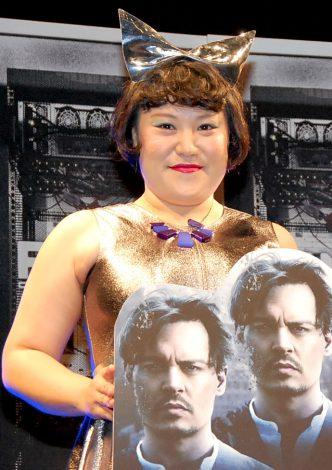 映画『トランセンデンス』日本語吹き替え版完成披露試写会イベントに出席したバービー (C)ORICON NewS inc.