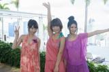 初のTV冠番組が決定したフレンチ・キス(左から)柏木由紀、高城亜樹、倉持明日香=『フレンチ・キスのキス旅』番組