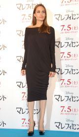 映画『マレフィセント』記者会見に登壇した主演のアンジェリーナ・ジョリー (C)ORICON NewS inc.