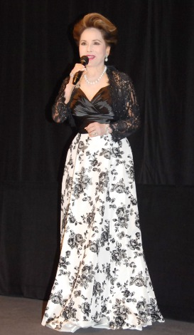 映画『渇き。』の女子高生限定試写会イベントに出席したデヴィ夫人 (C)ORICON NewS inc.