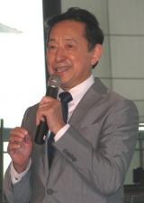 挨拶する毛利 衛 日本未来科学館館長。(C)De-View