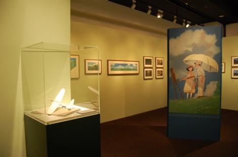東京ソラマチ  スペース634で開催されている『風立ちぬ』原画展会場の様子
