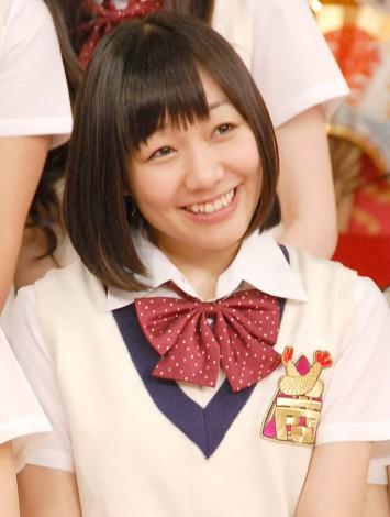 日本テレビ系バラエティー『SKE48 エビショー!』初回収録前に報道陣の取材に応じたSKE48の須田亜香里 (C)ORICON NewS inc.