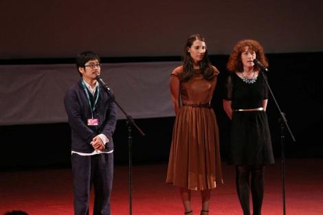 第36回モスクワ国際映画祭でスピーチする熊切和嘉監督 (C)2014「私の男」製作委員会