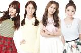 新メンバー・ヨンジ(左)が加入した新生KARA(左2番目から)スンヨン、ギュリ、ハラ