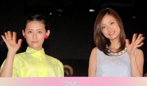 映画『マレフィセント』女性限定完成披露試写会に出席した(左から)福田彩乃、上戸彩 (C)ORICON NewS inc.