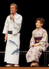 映画『思い出のマーニー』完成披露記者会見に出席した(左から)寺島進、根岸季衣 (C)ORICON NewS inc.