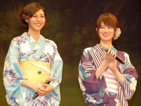映画『思い出のマーニー』完成披露試写会に出席した(左から)松嶋菜々子、高月彩良 (C)ORICON NewS inc.