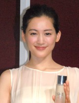 マックスファクター『SK-II ピテラ パーク』オープニング記念イベントに出席した綾瀬はるか (C)ORICON NewS inc.