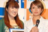 (左から)北斗晶、矢口真里 (C)ORICON NewS inc.