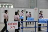 再発防止のため、会場内の警備体制や各握手会レーンのレイアウトなども大幅に変更されたAKB48握手会の模様(東京ビックサイトにて)
