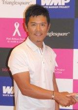 『ホワイトマーカーチャリティープロジェクト』の記者発表会に出席した矢野東選手