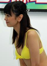 初DVD『脊山麻理子34 〜永遠の天然少女〜』発売記念イベントを開催した脊山麻理子アナウンサー (C)ORICON NewS inc.