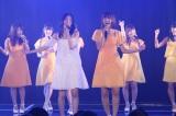 SKE48が劇場で新曲初披露(前列左から松井珠理奈、宮澤佐江)(C)AKS