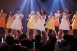 15thシングル「不器用太陽」を熱唱するSKE48(前列左から松井玲奈、松井珠理奈、須田亜香里)(C)AKS