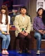 ドラマ『アオイホノオ』制作発表会見に出席したムロツヨシ(中央) (C)ORICON NewS inc.