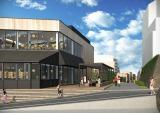 代官山の東横線跡地に新たな商業施設が誕生、代官山駅側の入口イメージ(提供:東急電鉄)