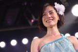 AKBチーム4の公演で劇場デビューを果たした塚本まり子 (C)AKS