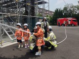 キッズ調査隊は、日本で初めて消防車の導入やレンジャー隊を発足させた横浜市消防局 野庭消防出張所へ出動