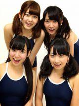 (左上より時計回りに)長岡真由、椎名成美、一色杏子(SWEET BULLT)、柊木りお/全員水着初挑戦