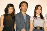 映画『幕末高校生』完成披露上映会に出席した(左から)川口春奈、柄本時生、石原さとみ (C)ORICON NewS inc.