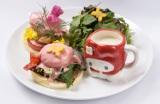 マイメロカップがもらえる『サンライズエッグベネディクト〜ビシソワーズ付き〜』(1580円)