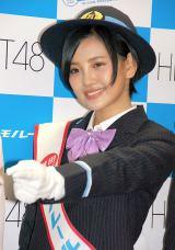 東京モノレール 新型車『10000形』出発式に出席した東京モノレール 新型車『10000形』出発式に出席したHKT48の兒玉遥 (C)ORICON NewS inc.
