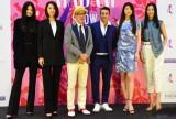「The Madam Show 2014 A/W」制作発表会 モデルに囲まれたテリー伊藤とパンツェッタ・ジローラモ