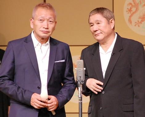 掛け合いを披露したビートきよし(左)とビートたけし (C)ORICON NewS inc.