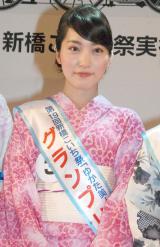 『ゆかた美人コンテスト』でグランプリを受賞した高橋明日香さん (C)ORICON NewS inc.