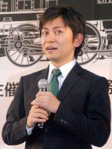 アナサー男子三人衆として初ライブを行った森圭介アナ=『第19回 新橋こいち祭』 (C)ORICON NewS inc.