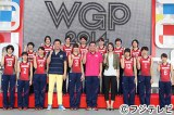 『お台場新大陸』のステージで、『女子バレーボール ワールドグランプリ2014』に挑む全日本女子チームの壮行会が行われた