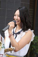 円頓寺商店街の七夕祭りオープニングイベントに参加したSKE48の古畑奈和(C)AKS
