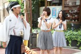 円頓寺商店街の七夕祭りオープニングイベントに参加したSKE48の宮澤佐江と古畑奈和(C)AKS