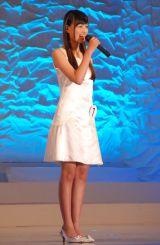 高知県出身の中学1年生・鶴嶋乃愛さん(つるしま・のあ 13)=『全日本国民的美少女コンテスト』最終審査の模様