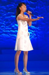 兵庫県出身の中学2年生・林杏香さん(はやし・きょうか 13)=『全日本国民的美少女コンテスト』最終審査の模様