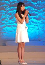 石川県出身の中学1年生・宮岸ももかさん(12)=『全日本国民的美少女コンテスト』最終審査の模様