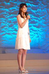 宮崎県出身の中学3年生・川口ゆりなさん(15)=『全日本国民的美少女コンテスト』最終審査の模様