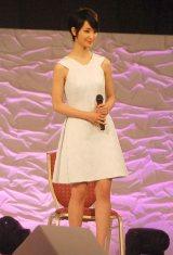 『全日本国民的美少女コンテスト』でトークショーを行った剛力彩芽 (C)ORICON NewS inc.