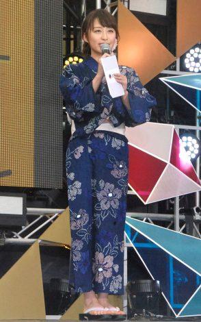 スマートフォン向けアプリ『ハミテレ』記者発表会に登壇したTBS・枡田絵理奈アナ (C)ORICON NewS inc.