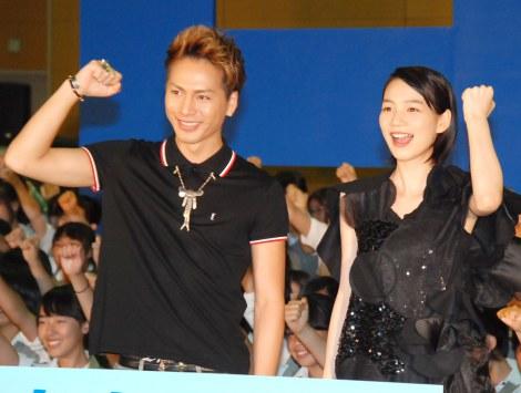 映画『ホットロード』の夏休み特別イベントに出席した(左から)登坂広臣、能年玲奈 (C)ORICON NewS inc.