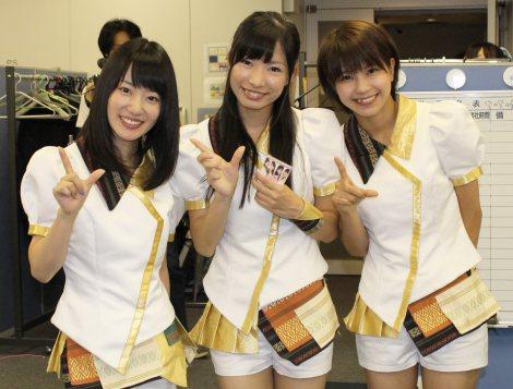「博多とよみつひめ」PRでオリコンを訪れたLinQの(左から)原直子、岸田麻佑、天野なつ (C)oricon ME inc.