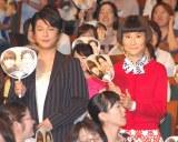 (左から)及川光博、片桐はいり=映画『小野寺の弟・小野寺の姉』完成披露試写プレミア上映会