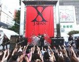 国内で初となるゲリラライブを行ったX JAPAN