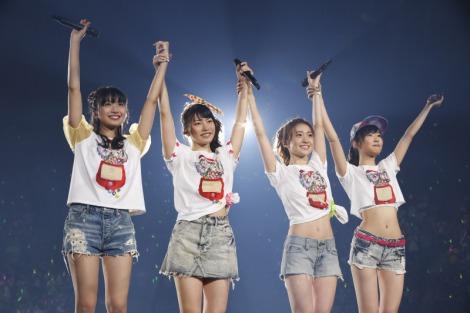 AKB48の派生ユニット・Not yetの1stアルバム発売記念ライブがDVD&BD化(左から北原里英、横山由依、大島優子、指原莉乃)