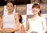 『東京 GIRLS AUDITION 2014 AUTUMN/WINTER Powered by Ameba』ファイナリスト(左から)蛭川怜奈、糸原美波 (C)ORICON NewS inc.