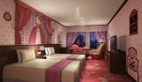 東京・新宿の京王プラザホテルに登場するハローキティルーム(PRINCESS KITTY)